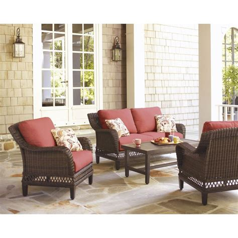 Hton Bay Patio Furniture Hton Bay Woodbury Replacement Cushions