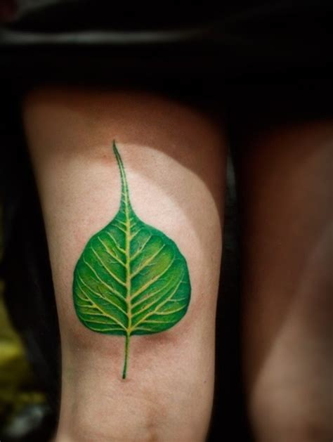 tattoo ink green green leaf tattoo nature lover tattoo love pinterest