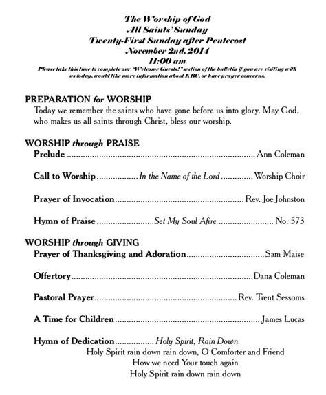 church wedding bulletins