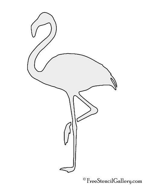 flamingo template flamingo silhouette stencil free stencil gallery