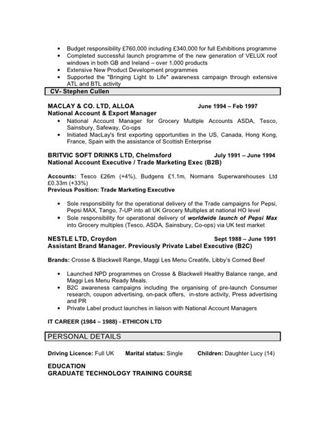 resume responsible for budget
