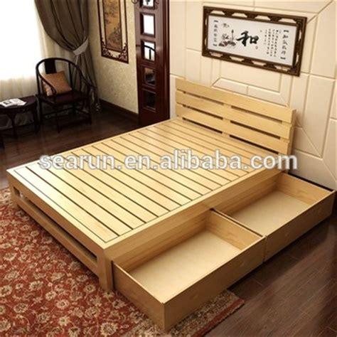 Diy Wooden Storage Box Teak solid wooden bed with box teak wood modern bed