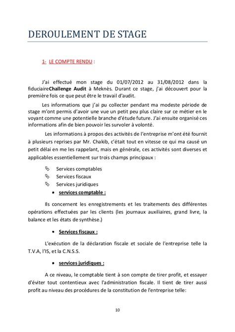 Rapport De Stage Dans Un Cabinet Comptable by Stage Cabinet Comptable Avec Les Meilleures Collections D