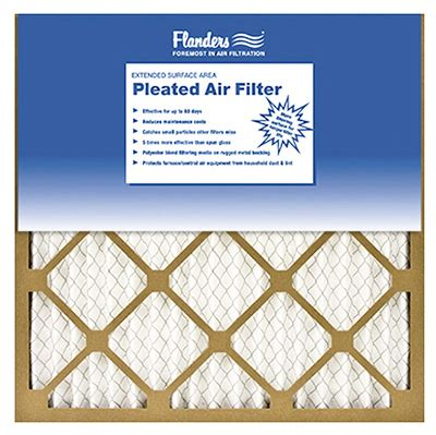 Flanders Plumbing And Heating by 12 Pack Flanders Pleated Air Filter 20 X 20 X 1 In