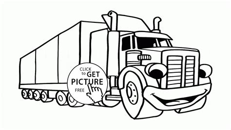 Semi Coloring Pages by Semi Truck Coloring Page For Preschoolers
