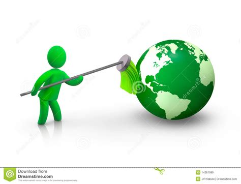 House Cleaning Green Earth House Cleaning Earth Royalty Free Stock Images Image 14281999