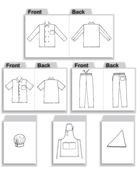 sewing pattern uniform mccall s 2233 sewing pattern to make chef whites jacket