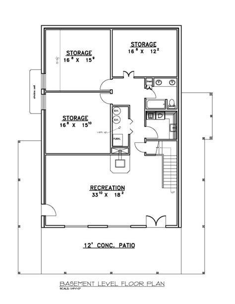 ranch floor plans with basement walkout lovely basement blueprints finished walk out basement