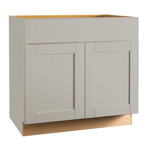 kitchen base cabinets home depot hton bay shaker assembled 30x34 5x24 in sink base