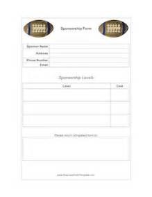 football sponsorship form template