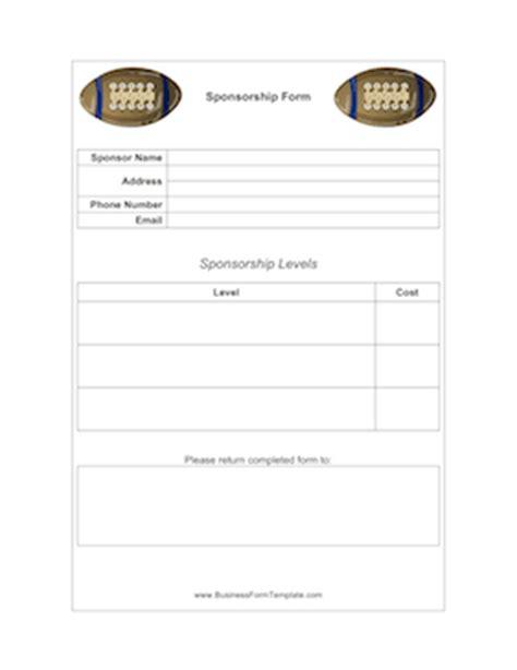Football Sponsorship Form Template Sponsor List Template