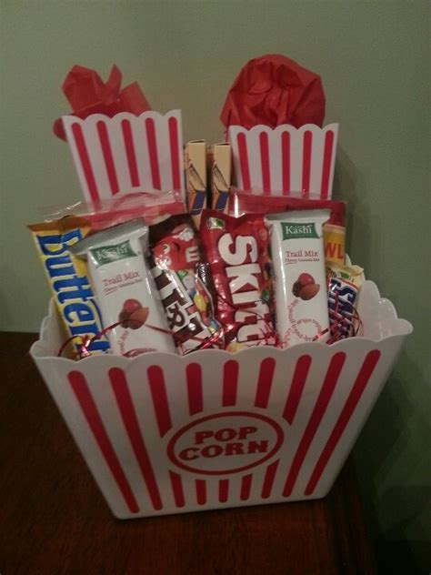 movie night popcorn gift basket christmas gift basket