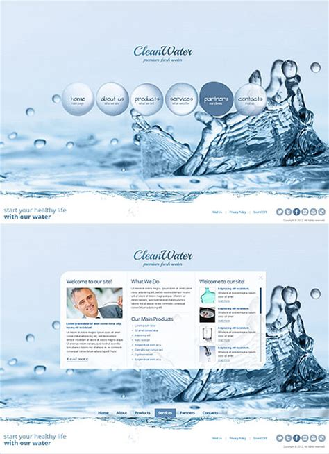 template water clean water html5 template best website templates