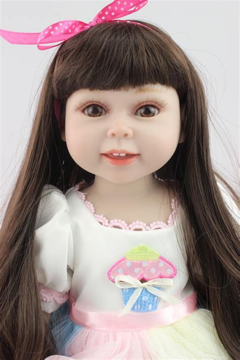 Where Can I Buy An American Girl Gift Card - fashion new style full vinyl 18 inch american girl doll with black long hair baby