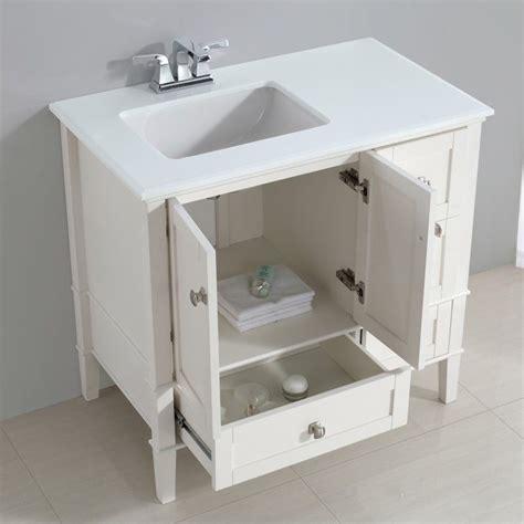 Simpli Home Chelsea Vanity by Simpli Home Chelsea 36 Quot Left Offset Bath Vanity In Soft