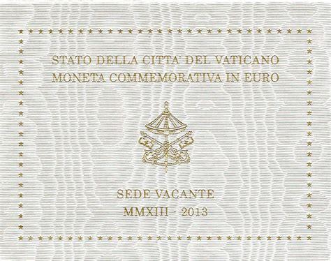 coin sede vatican 2 coin sede vacante 2013 coins tv