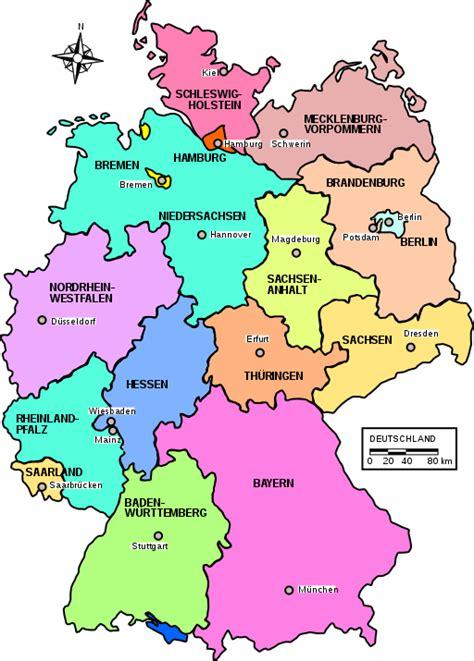 karta deutschland bundesl 228 nder deutschland daten fakten und wissenswertes