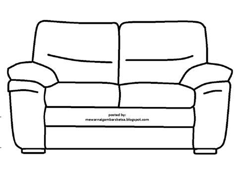 Gambar Sofa mewarnai gambar mewarnai gambar sketsa sofa 2