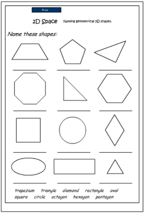 printable 2d shapes and names naming 3d shapes worksheet ks1 3d shapes worksheet by