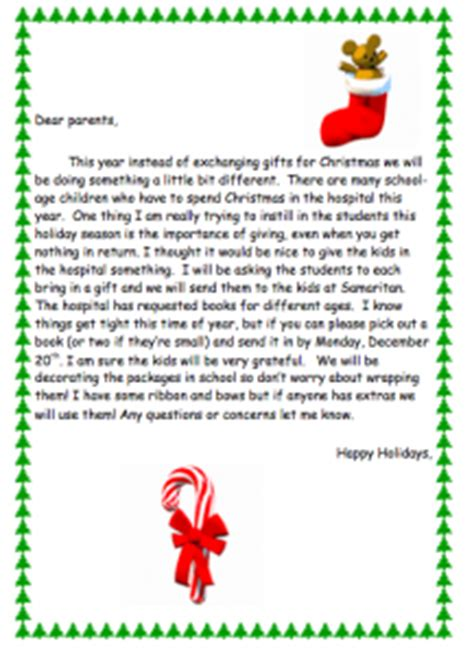 Gift Exchange Letter Template Gift Exchange Ideas Power Point Maniac S Teaching Resources