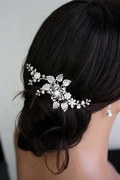 Wedding Hairstyles With Side Combs by Best Wedding Combs For Hair Hairstyles 2016 2017