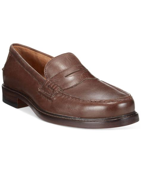 brown polo loafers polo ralph dustan loafers in brown for