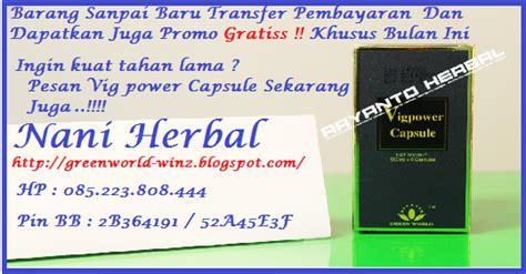 Obat Kuat Herbal Vig Power Capsule Green World vig power capsule produk asli green world