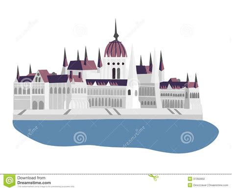 European Style House Plans Budapest Parliament Illustration Stock Photo Image 37350950