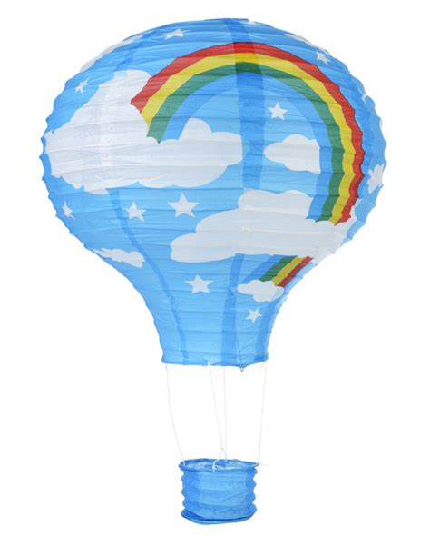 How To Make Paper Air Balloon Lantern - blowout turquoise rainbow air balloon paper lantern