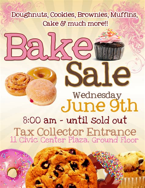 free bake sale flyer templates pretty witty designs may 2010