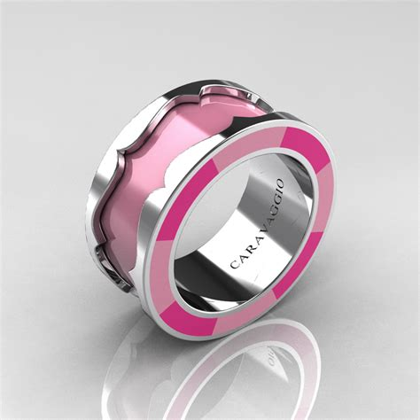 caravaggio 14k white gold light pink and pink italian