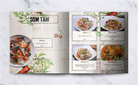 cafe menu design and print cafe chilli menu design print design bangkok