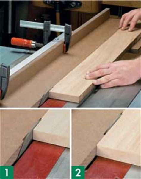table saw jointer jig woodworking tip jointing on a table saw