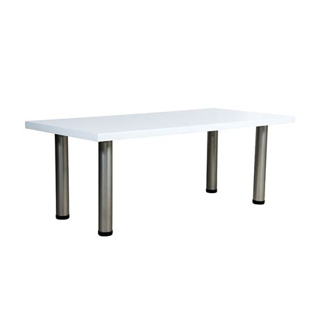 standard coffee table white unik furniture hire durban