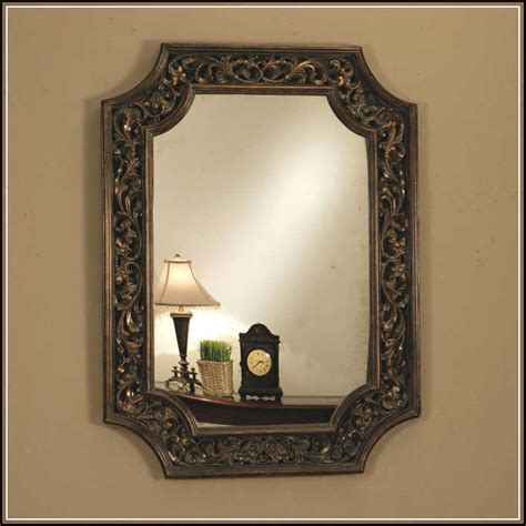 Bathroom Decorative Mirrors Magnificent Shapes Of Decorative Bathroom Mirrors For Guest Bathroom Home Design Ideas Plans