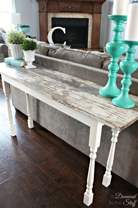 make your own sofa table make your own sofa table using salvaged wood and wooden