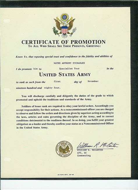 certificate of promotion us army flickr photo sharing