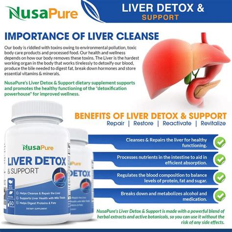 Safe Herbal Liver Detox For Alcoholic by Liver Support Detox Cleanse Supplement With Milk Thistle
