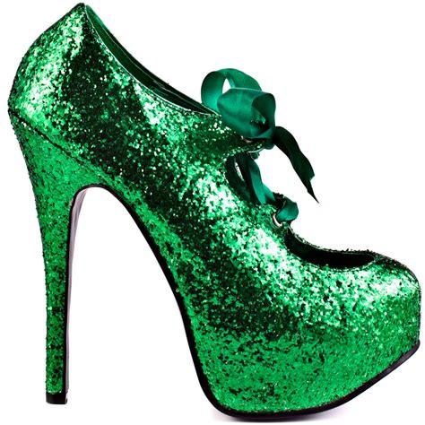 green glitter high heels city green glitter bordello 84 99 free shipping