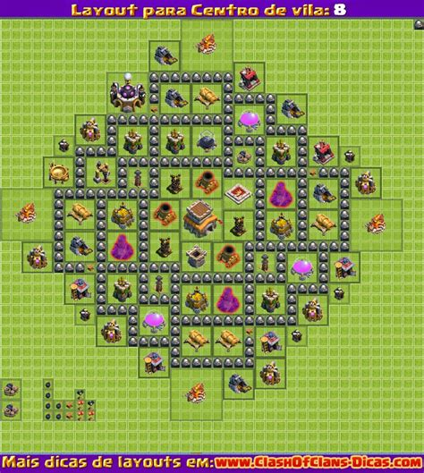 Layout Vila Cv 8 | melhores layouts para clash of clans centro de vila n 237 vel