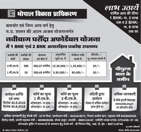 kempegowda layout bda online application bda bhopal navibagh gharonda affordable housing scheme 2016