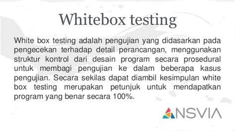 black box testing adalah blackbox and whitebox testing
