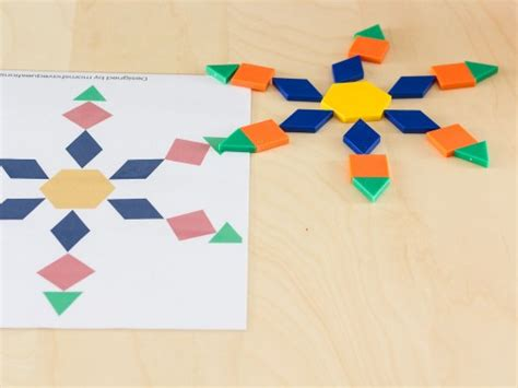 snowflake pattern block templates snowflake pattern blocks templates moms have questions too