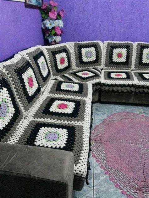 capa de sofa de canto em croche capa para sof 225 artesanal como fazer fotos artesanato
