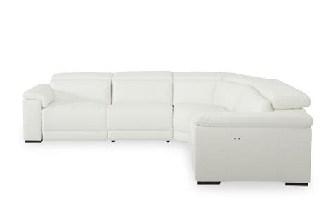 White Leather Reclining Sectional Sofa Estro Salotti Palinuro White Leather Sectional Sofa W Recliners Modern Sofas Living Room