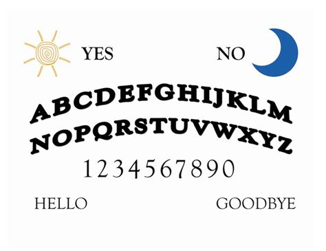 printable ouija board template printable ouija board wikihow printables pinterest