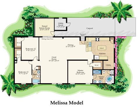 house plans models melissa floor plans nobility homes florida