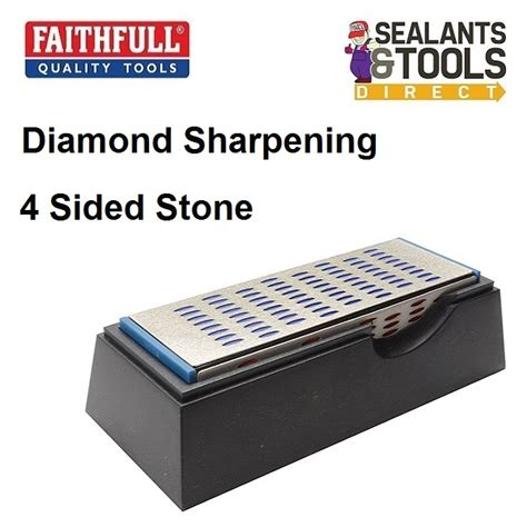 Faithfull Diamond Sharpening Stone Wet Dry 4 Sided Faidwquad