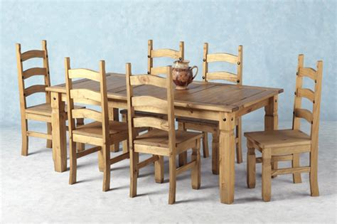6 seater wooden dining table and 6 chairs furniture in