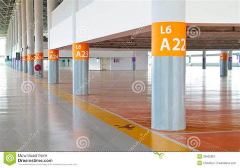 Free 2 Car Garage Plans Parking With Pedestrian Strip And Pillar Numbering Royalty